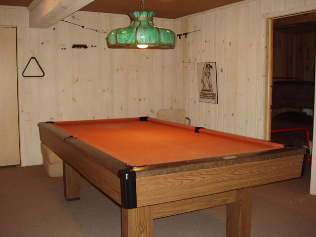 Pool table lower level.